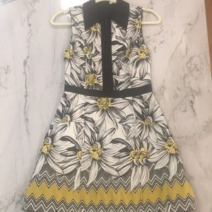 Alice and Olivia Floral Zip Dress